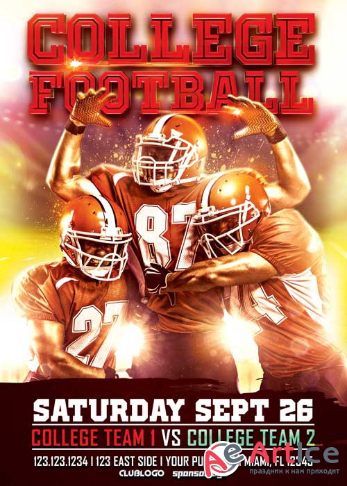 College Football V11 Flyer Template
