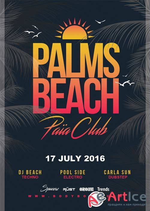 Palm Beach V15 Flyer Template