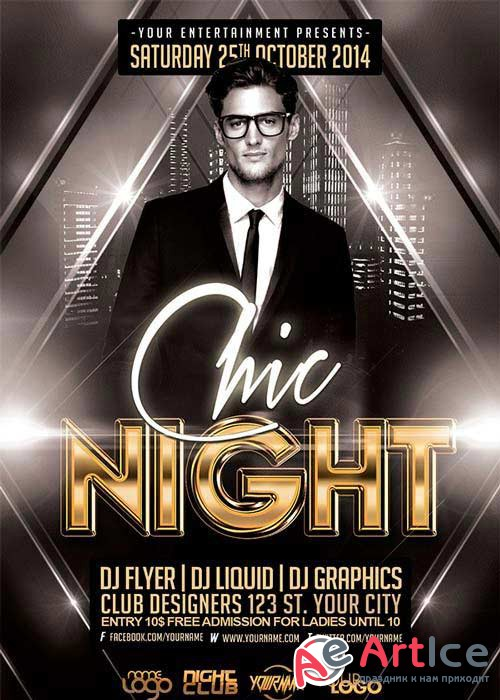 Chic Night V11 Flyer Template