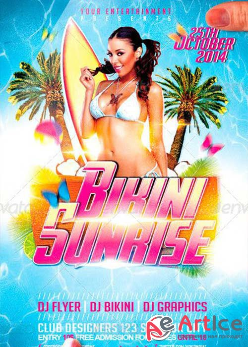 Bikini Sunrise V10 Flyer Template