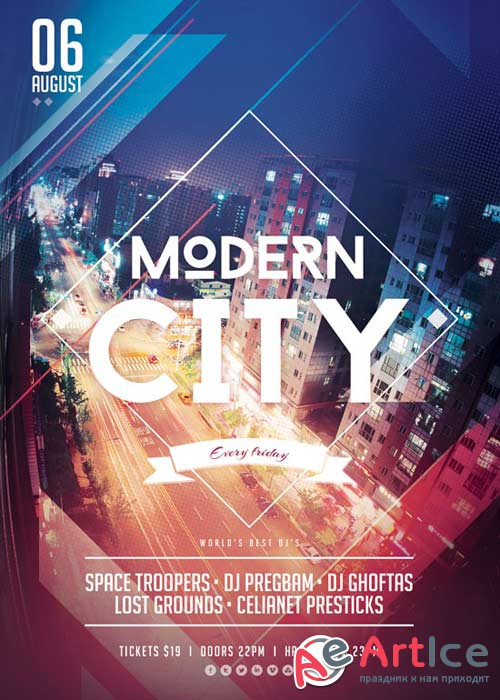 Modern City V27 Flyer Template