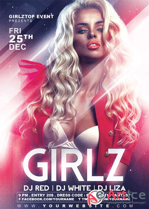 GIRLZ V27 Flyer Template