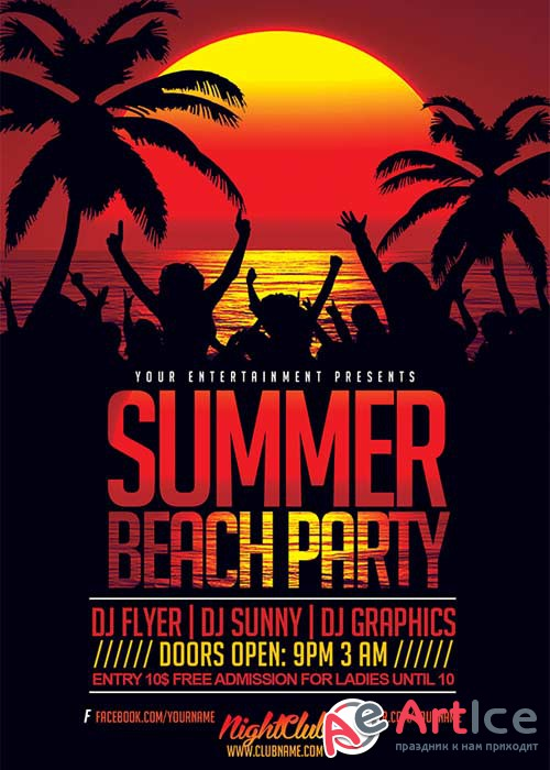 Summer Beach V31 Flyer Template