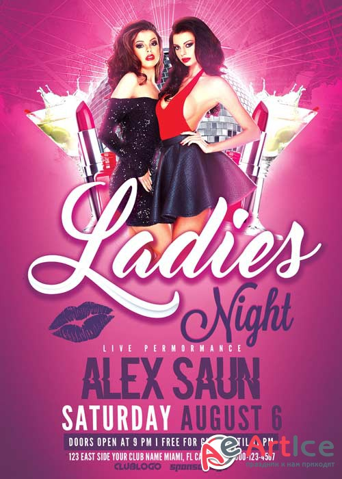 Ladies Night V22 Flyer Template