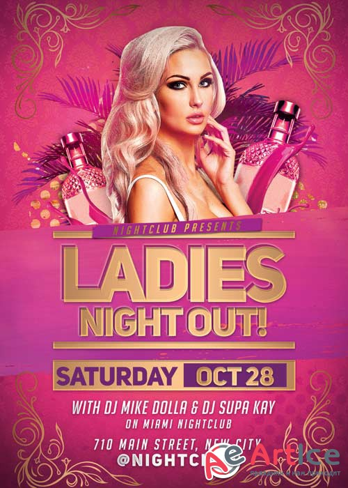Ladies Night Out Party V38 Flyer Template