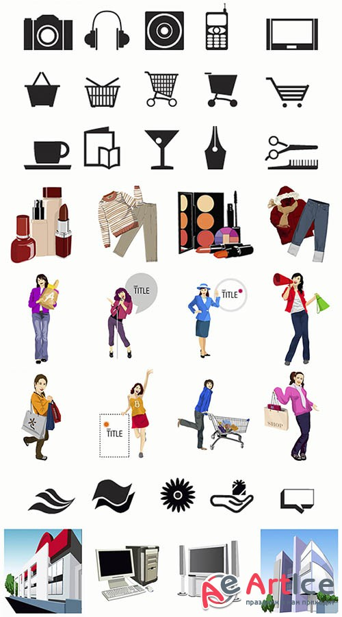 Shopping Illustration and Icons