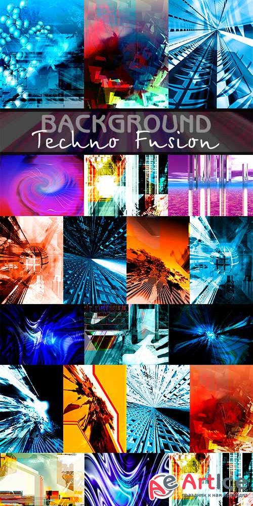 Techno Fusion background