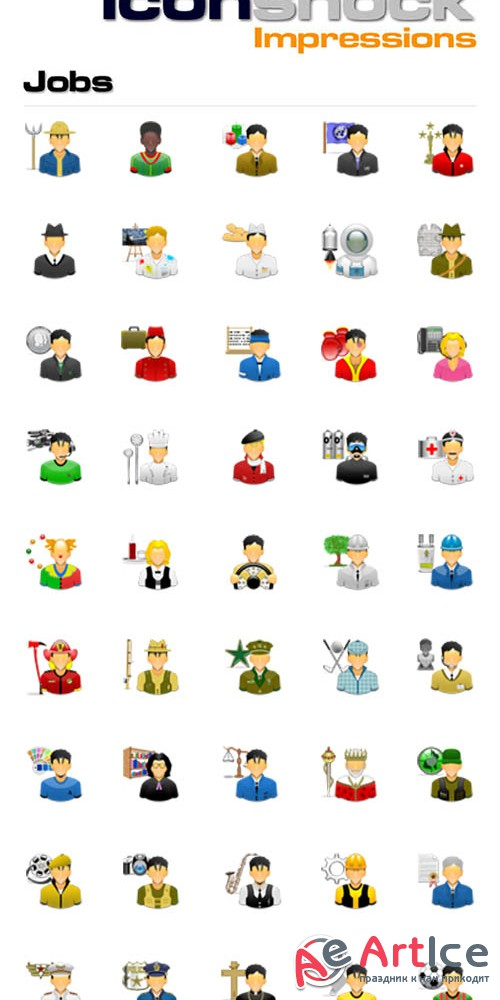 Impressions - Jobs icons