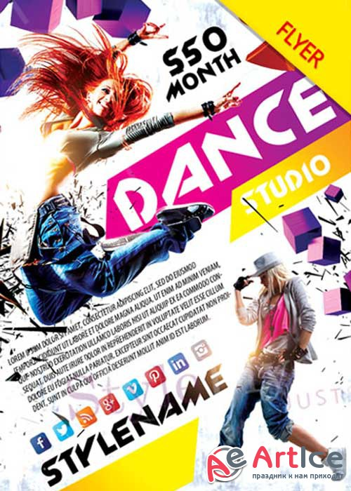 Dance Studio V14 PSD Flyer Template