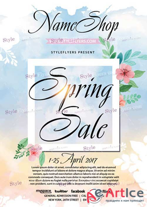 Spring Sale V21 PSD Flyer Template