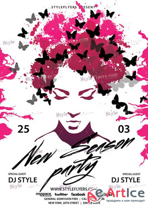 New Season Party V10 PSD Flyer Template