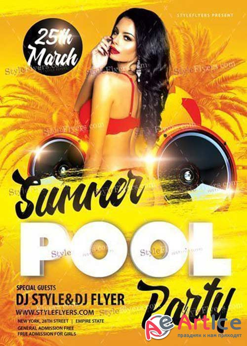 Summer Pool Party V31 PSD Flyer Template