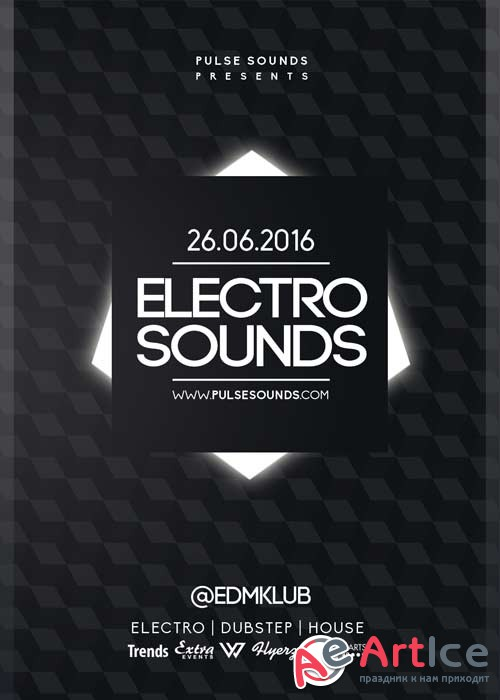 Electro Sounds V32 Flyer Template