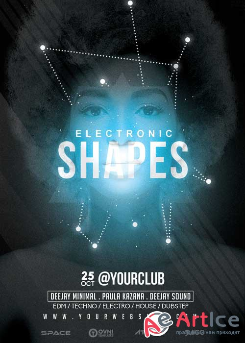 ELECTRONIC SHAPES V5 Flyer Template