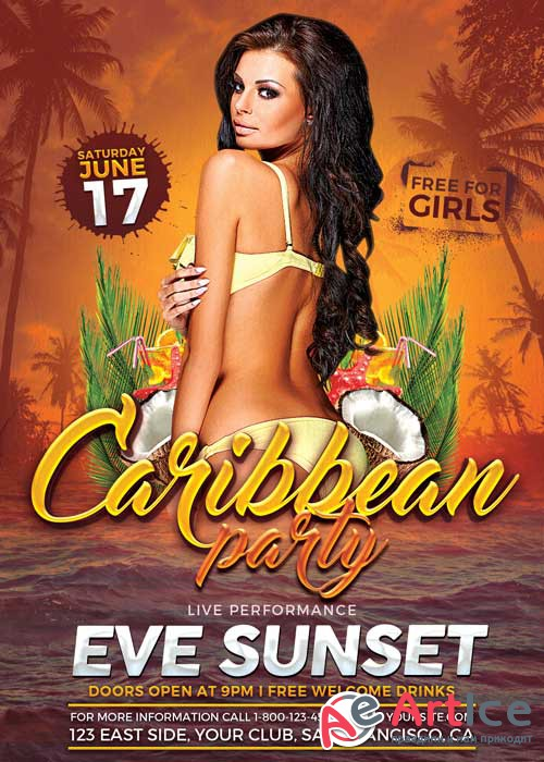 Carribean Party V11 Flyer Template
