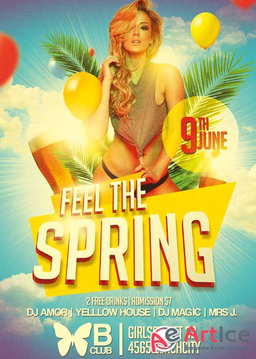 Feel the Spring V9 Flyer Template