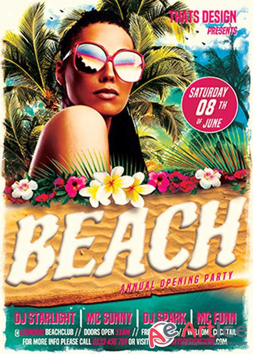 Beach Party V24 Flyer Template