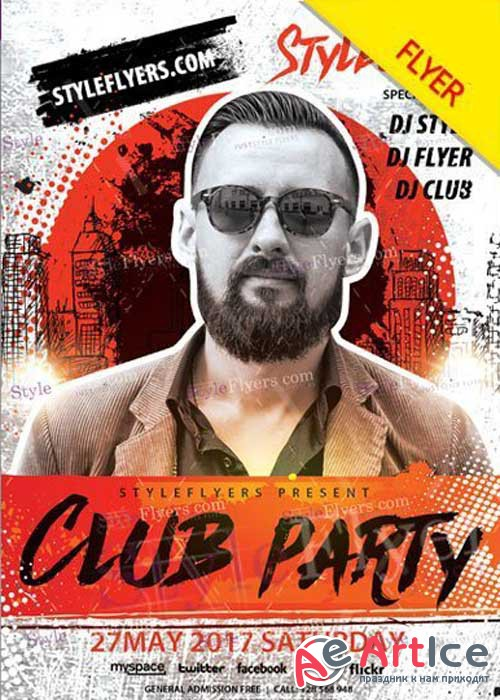 Club Party V22 PSD Flyer Template