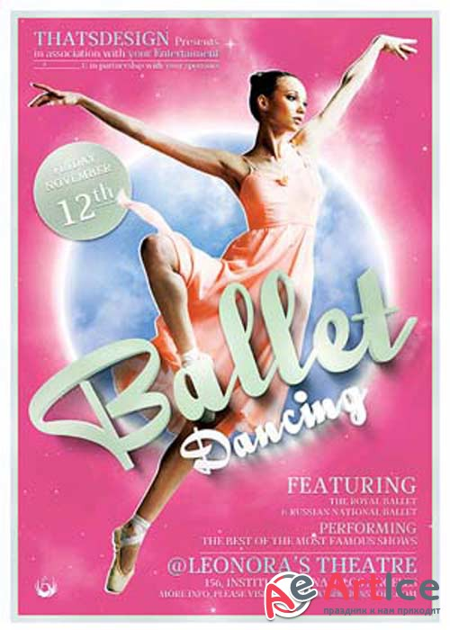 Dance Ballet V12 Flyer Template
