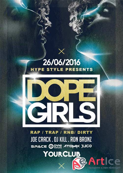 DOPE GIRLS V10 Flyer Template