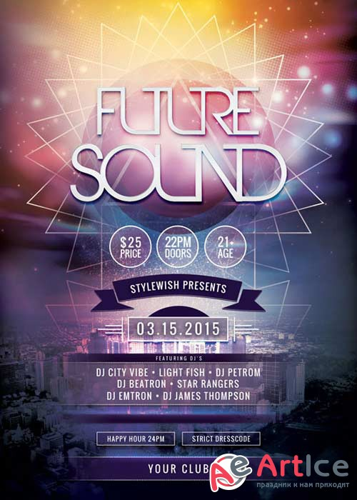 Future Sound V15 Flyer PSD Template