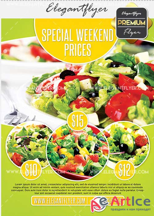 Special Weekend Offer V18 Flyer PSD Template + Facebook Cover