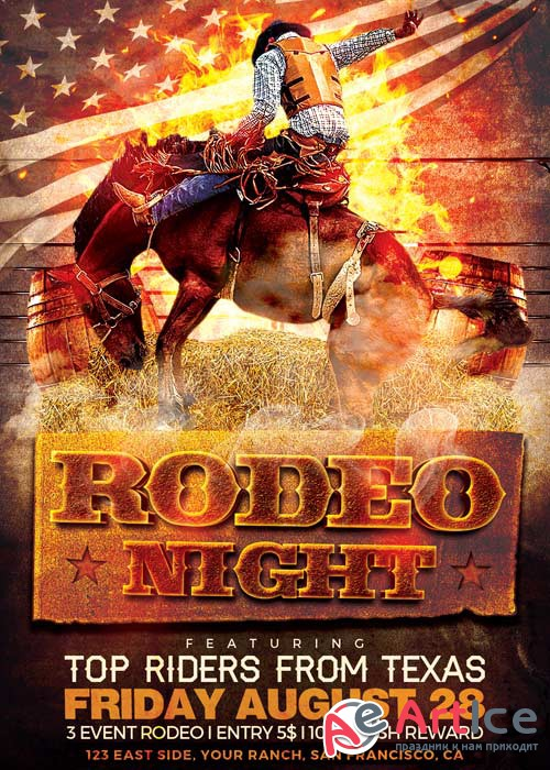 Rodeo Night V12 Flyer Template