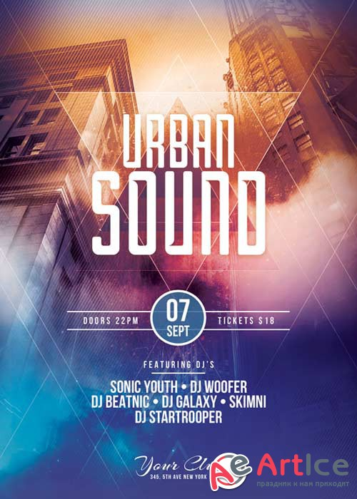 Urban Sound V17 Flyer Template