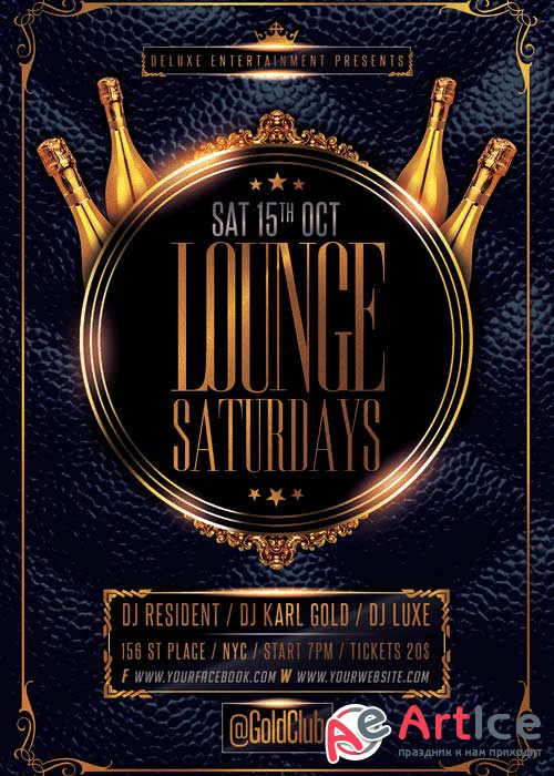 Lounge Saturdays V14 Flyer Template
