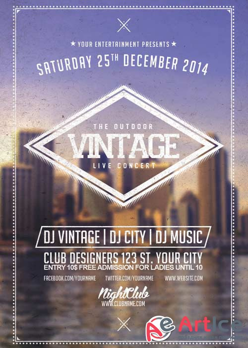 Vintage Music V11 Flyer Template