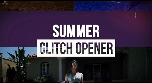 Summer Glitch Opener After Effects Templates
