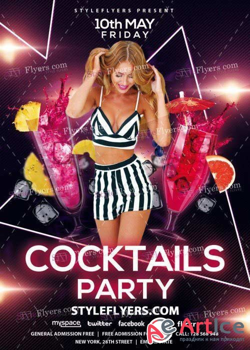 Cocktails Party V45 PSD Flyer Template