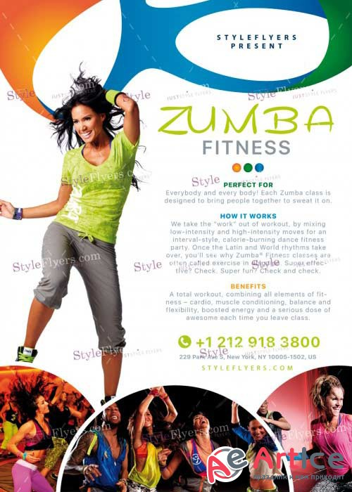 Zumba Fitness V14 PSD Flyer Template