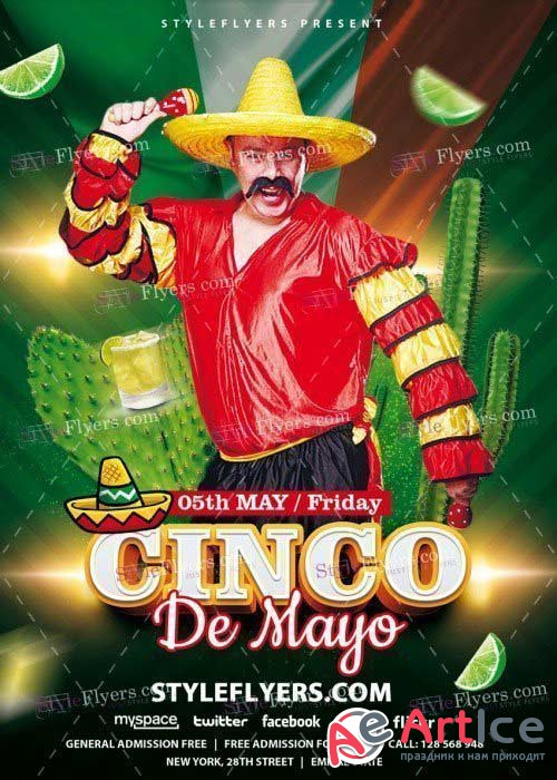 Cinco de Mayo V39 PSD Flyer Template