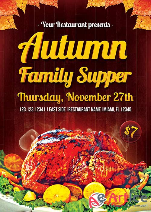 Autumn Family Supper V11 Flyer Template