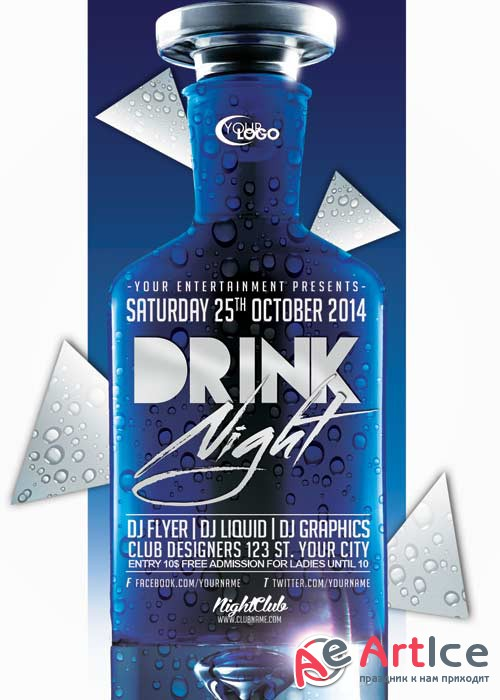 Drink Party V27 Flyer Template