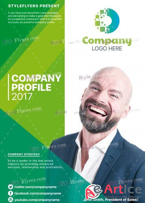 Company Profile V25  PSD Flyer Template