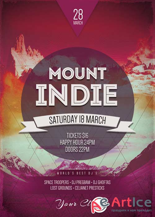 Mount Indie V25 Flyer Template