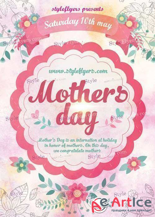 Mothers Day V30 PSD Flyer Template