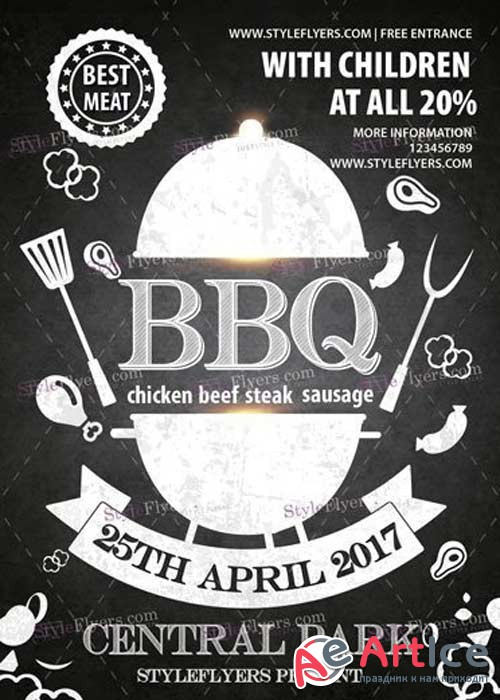 BBQ V40 PSD Flyer Template