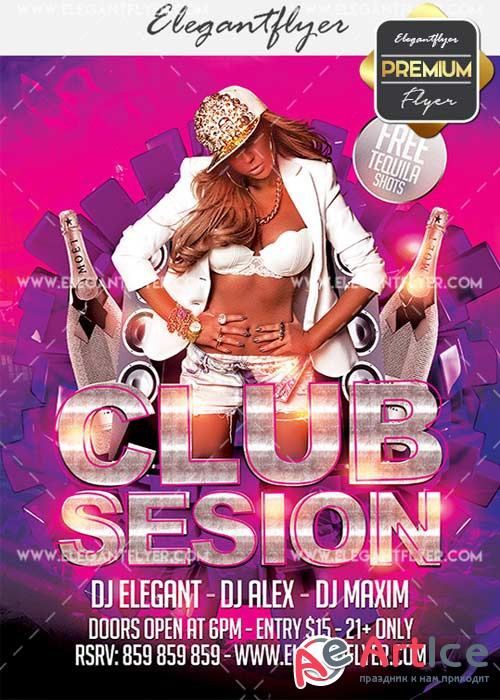 Club Session V41 Flyer PSD Template + Facebook Cover