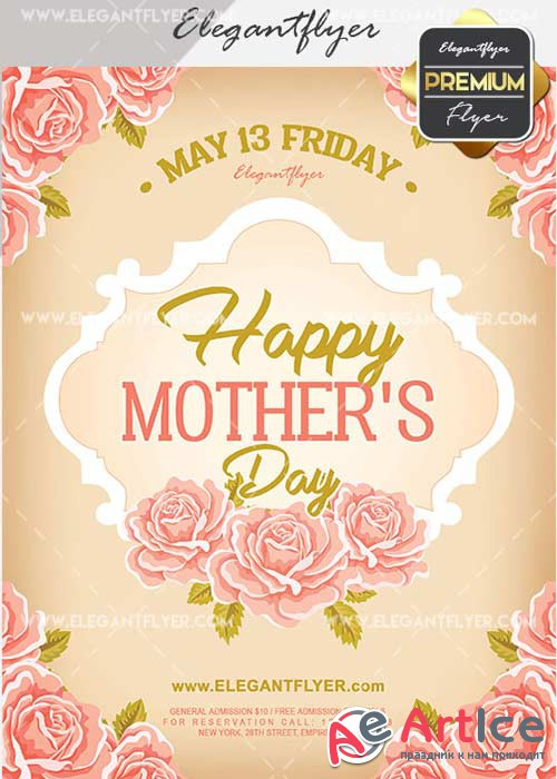 Mother's Day V20 Flyer PSD Template + Facebook Cover
