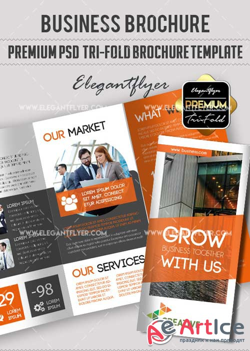 Business V31 Premium PSD Tri-Fold PSD Brochure Template