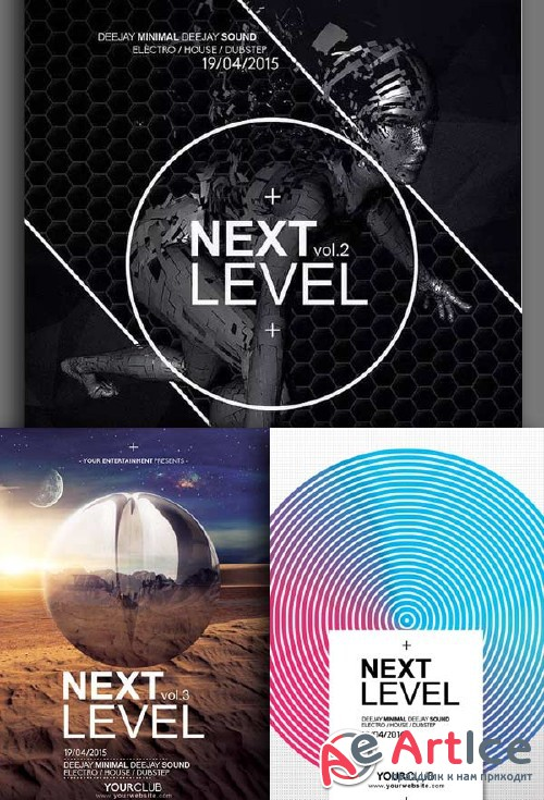 Next Level Party 3in1 V1 Flyer Template