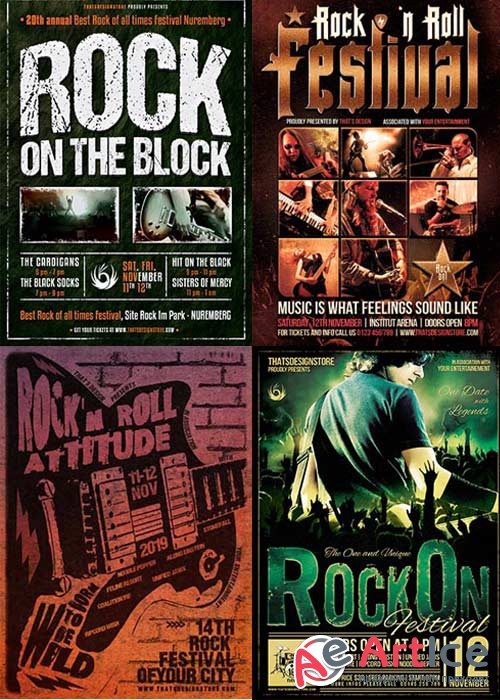 Rock Festival 3in1 V1 Flyer Template