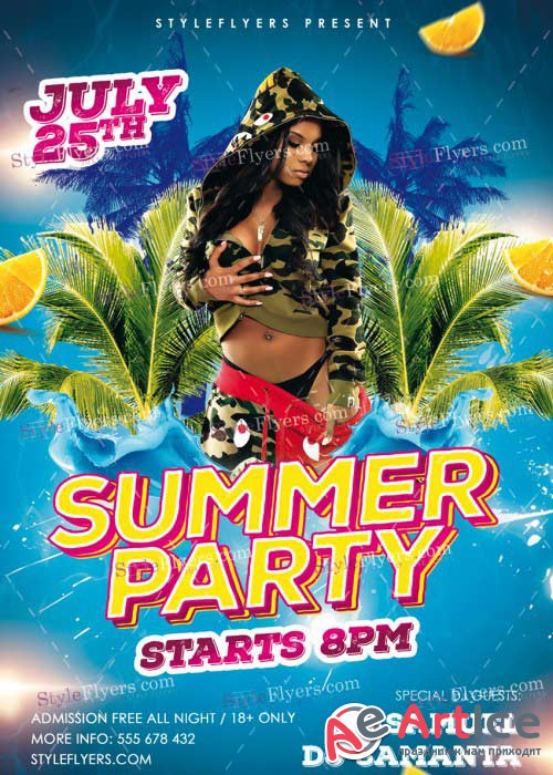 Summer Party PSD V41 Flyer Template