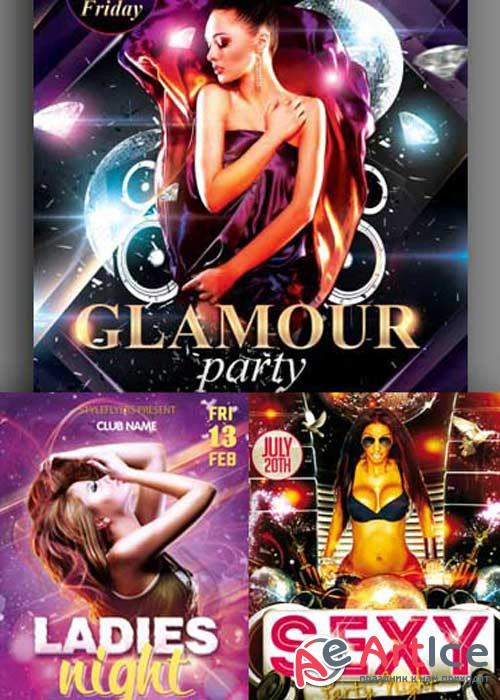 Ladies Night Flyer 3in1 V1 Flyer Template