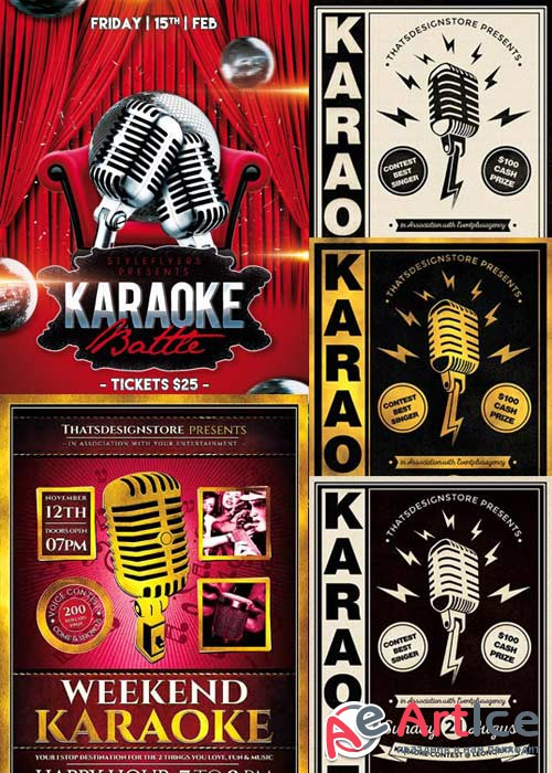 Karaoke 3in1 V1 Flyer Template