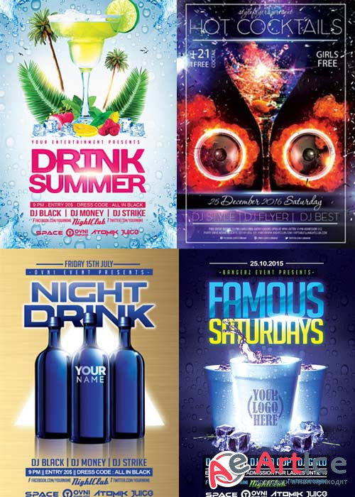 DRINKS 4in1 V1 Flyer Template