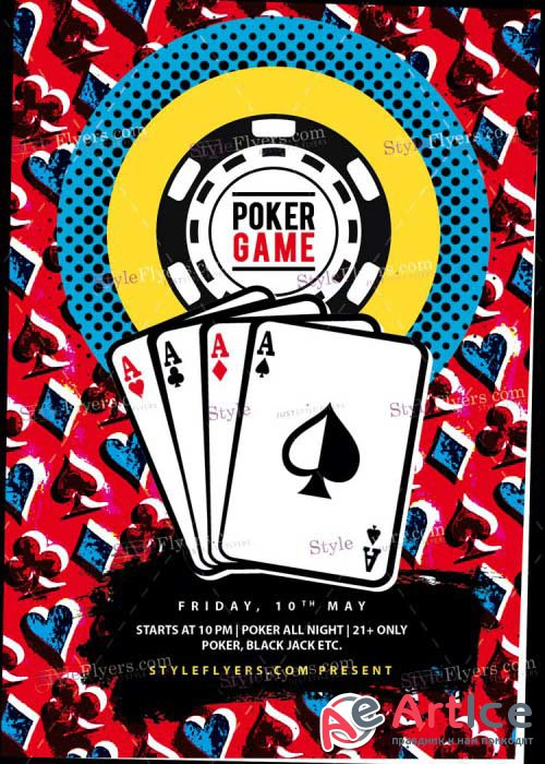 Poker V24 PSD Flyer Template